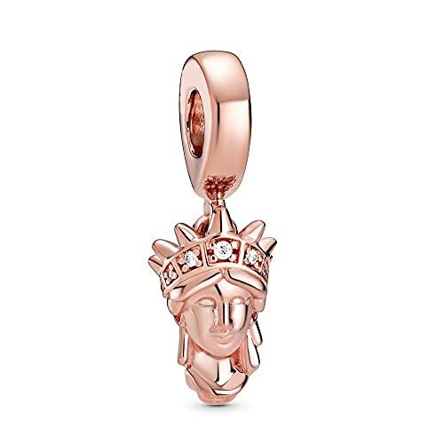 Pandora 925 pendentif en argent Sterling bricolage perle New York Statue de la liberté balancent charme ajustement mode femmes Bracelet bracelet cadeau bijoux