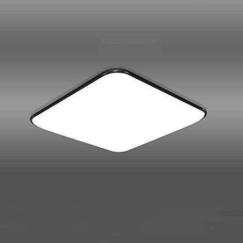 GUOGUOSM Lámpara De Techo LED Iluminación De Sala De Estar Cuadrada Negra, Lámpara De Dormitorio Minimalista Moderna Lámpara De Comedor, Lámpara De Techo Empotrada En La Oficina Del Pasillo Del Balcón