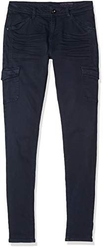 edc by ESPRIT Damen 129CC1B024 Hose, Blau (Navy 400), W42/L32(Herstellergröße:42/32)
