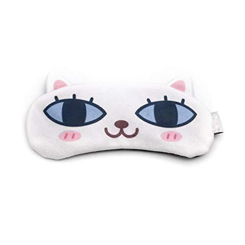 JIAHU 1pc Cartoon Sleeping Mask Sleep Eye Masks Adjustable Strap Soft Eyemask Blackout