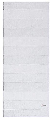 Cawö - Sauna - Sauna handdoek 257 - Grootte: 80x200 cm - Kleur: zilvergrijs/wit - 76
