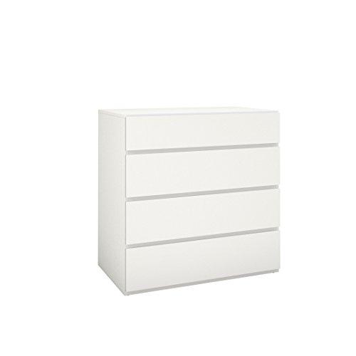 Nexera 4-Drawer Chest, White