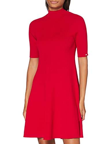 Tommy Hilfiger Damen Kleid Jany Flare Dress, rot (Crimson 692), 34 (Herstellergröße: XS)