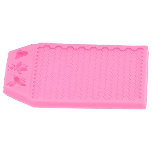 Fondant, pastel de bricolaje con forma celular antiadherente para la familia para Navidad para regalos para la cocina(pink)