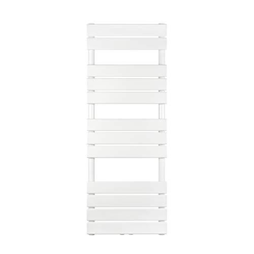 VILSTEIN Handtuchheizkörper, Flach, Weiß, Seitenanschluss und Mittelanschluss, 1200x450 mm
