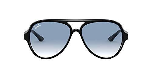 Ray-Ban 4125, Occhiali da Sole Uomo, Nero (Light Blue Gradient), 59