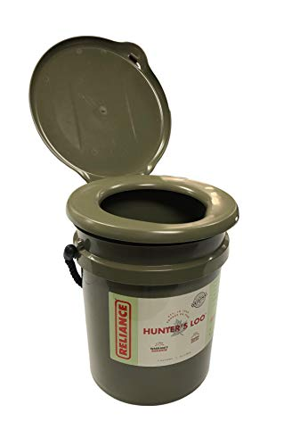 Reliance Products Hunter's LOO | Portable Camouflage Hunting/Camping Toilet | 5 Gall. Bucket | 200 Pound Capacity