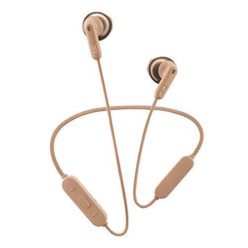 JBL Tune 215 Auriculares inalámbricos con Bluetooth, Sonido Pure Bass y conexión multipunto, batería de 16 horas con carga rápida, color oro