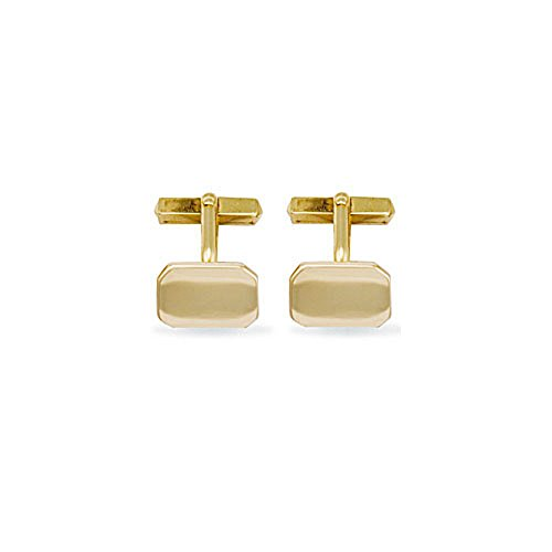 Jewelco Europa Hommes Or Jaune 9k T-shape Boutons de manchette
