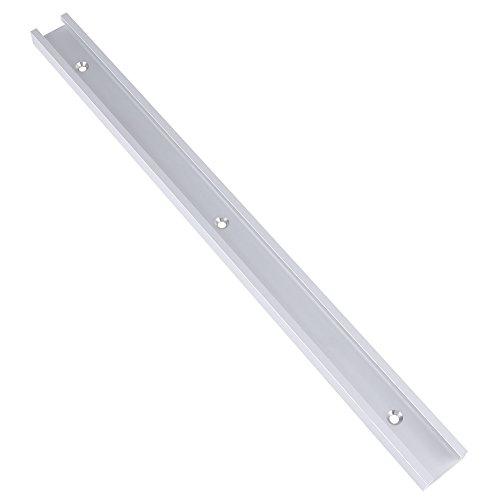 【𝐁𝐥𝐚𝐜𝐤 𝐅𝐫𝐢𝐝𝐚𝒚】Riel con ranura en T, tornillo autoadhesivo Aluminio 400 mm Riel en T, ranura en T, para banco de trabajo para carpintería Taladro Pres Sierra de brazo radial