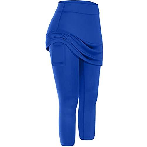 PLENTOP Womens Lounge Pants with Pockets Women Sweatpants Womens Athletic Shorts with Pockets Blue