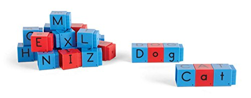 hand2mind Jumbo Alphabet Linking Letter and Word Building Cubes for Early Reading (Set of 28)