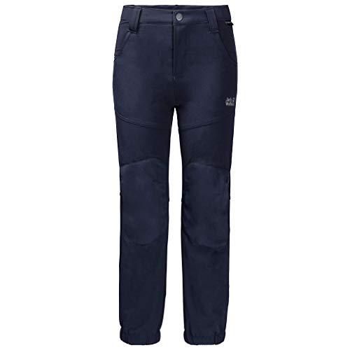 Jack Wolfskin Kinder RASCAL WINTER PANTS KIDS elastische Softshellhose, midnight blue, 140