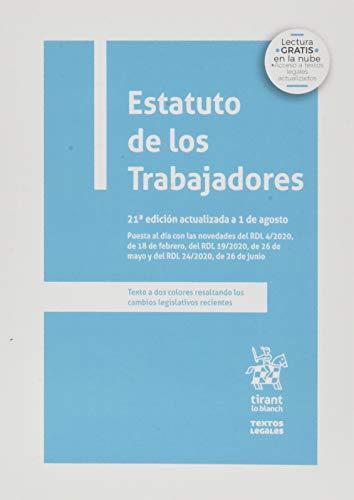 Estatuto De Los Trabajadores 21ª Edición 2020 (Textos Legales)