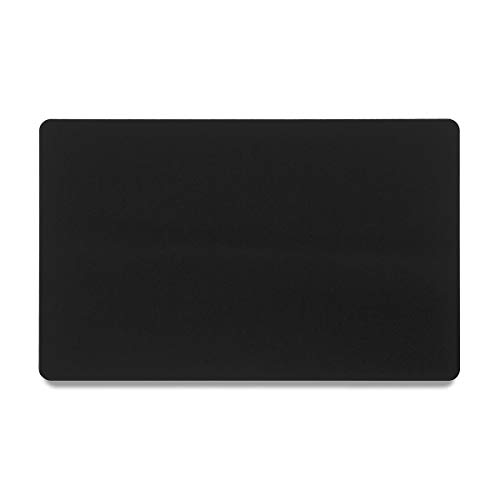 Bastex Pack of 60 Black Metal Cards Blanks for Business Card Engraving. Blank, Aluminium and Thin Credit Card Sized Cards for Laser Engraving DIY Gift Cards (Black)