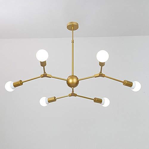 AI LI WEI Mooie lamp/hanglamp, verstelbaar, Scandinavische stijl, hanglamp met 6 armen E27, hanglamp van ijzer, creatieve lamp voor woonkamer, slaapkamer, eetkamer, bar lampen