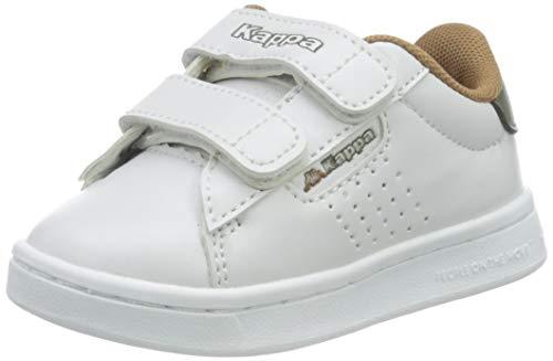 Kappa TCHOURI Velcro INF, Zapatillas Deportivas Unisex bebé, Blanco/Verde Africa/marrón Camel, 26...