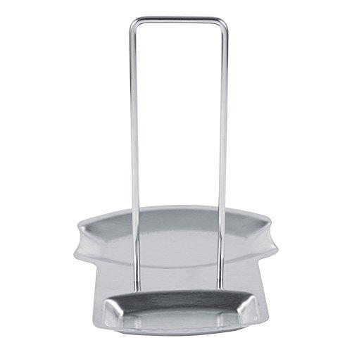 Estante para tapa de olla, 1 pieza de cocina casera, soporte de cuchara de acero inoxidable, estante para tapa de olla, estante de cocina, soporte para tapa de olla, soporte para tapa de