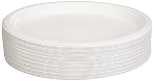 Papstar 81329 - Piatti ovali in Canna da Zucchero, 26 cm x 20 cm x 2 cm, 50 pz, Colore: Bianco