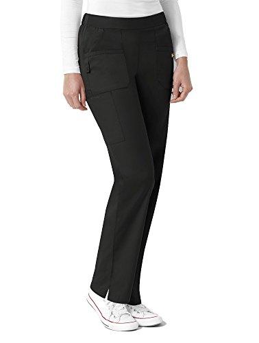 WonderWink Women's Next Madison Elastic Waist Scrub Pant, Black, X-Large Petite
