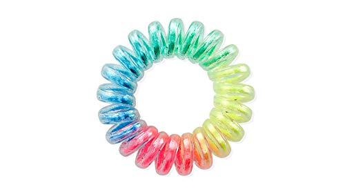 Dessata Zwart Fuchsia Haarbanden - 6 eenheden Regenboog