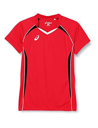 [アシックス] バレーボールウエア 半袖ゲームシャツ XW1316 ボーイズ ヴィクトリーレッド/ブラック 日本 140 (日本サイズ140 相当)