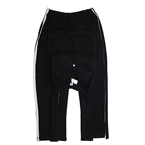 AKOC Pantalones para El Cuidado De La Incontinencia,Ropa para El Cuidado De La Bolsa De Drenaje para Ostomía Ropa para El Cuidado del Paciente Abierta con Cremalle,Negro,3XL
