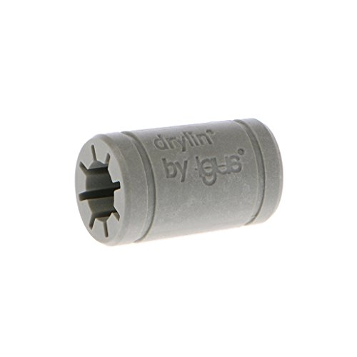 JOYKK 3D Printer Effen Polymeer LM8UU Lager 8mm Asgus Drylin RJ4JP-01-08 - Grijs
