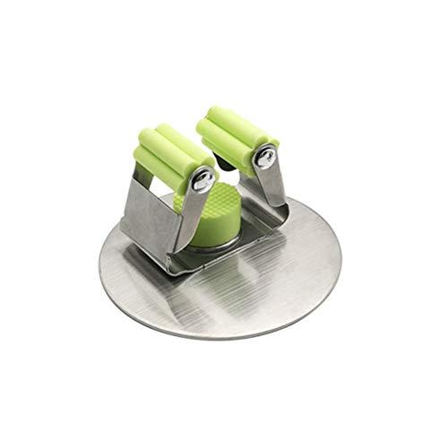 VOSAREA Colgador y Organizador de Pared para Fregona Escoba Cepillo Autoadhesiva para Baño Casero (Redondo)