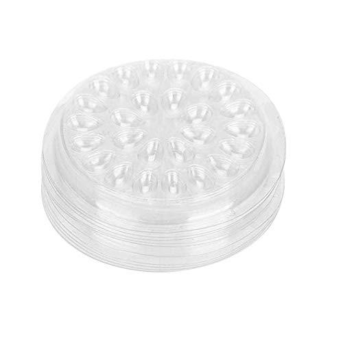 Broco Support de Colle de Faux Cils, 50pcs en plastique joint de garniture de forme de fleur pad faux support de colle de cil d'extension Palettes pour des cils outils de palette adhésifs d'extension