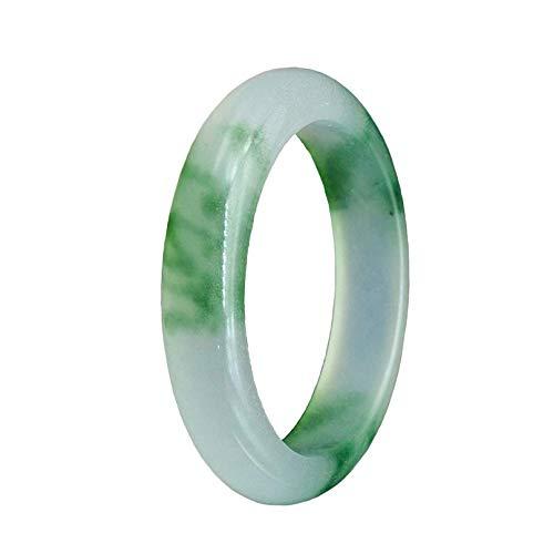 HSDCK Natürliches echtes EIS Jade Floating grüner Armband Schmuck Geschenk-Box Verpackungen für Frauen natürlicher Jadeit Jade Runde Armreif,XXL