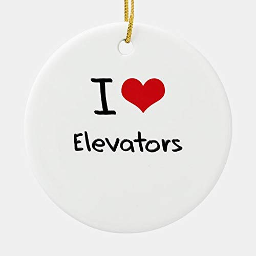 I Love Elevators Ceramic Ornament 2020 Xmas Tree Pendants Pandemic Christmas Ornament Covid Quarantined Keepsake Gift