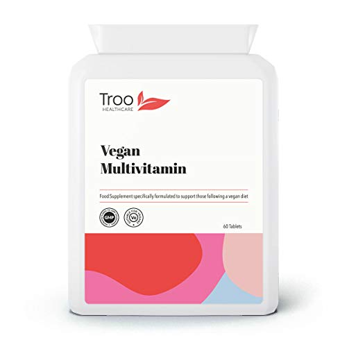 Vegan Multivitamin and Mineral Supplement 60 Tablets   24 Vitamins and Minerals   Support Immune Function and Reduce Fatigue   UK Manufactured to GMP Standard