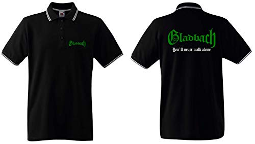 world-of-shirt / Gladbach Herren Polo-Retro You`ll Never Walk Alone