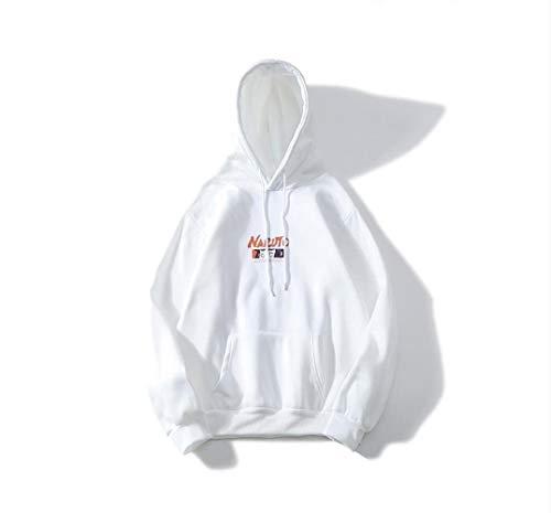 NO BRAND Sudadera con Capucha suéter Parejas de Anime Naruto Naruto Hinata Sudaderas con Capucha Blanca LWinter Hip Hop con Capucha del Animado de Naruto Elementos Sudaderas Sudaderas 3D