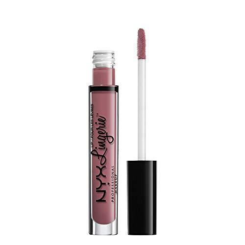 NYX Professional Makeup Pintalabios Lip Lingerie Liquid Lipstick, Acabado cremoso y mate, Larga duración, Fórmula vegana, Tono: Embellishment