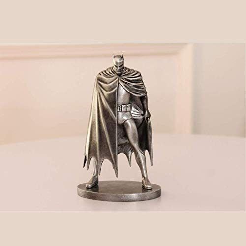 YLSP Exquisite Handmade Model Series Hero Model Doll Ornaments Handmade Toys Statue Imitation Imitation Copper Iron Birthday 19.5 Centimeters (Color: Silver) (Color : Silver) image