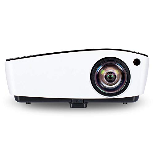 Panjianlin Proyector 4000 lúmenes 1024x768dpi for el hogar Teatro Cine LED Proyector Video Proyector DLP Inicio proyector de Cine portátil (Color : White Silver, Size : One Size)