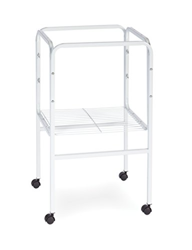 Prevue Pet Products SP445W Bird Cage Stand with Shelf, White