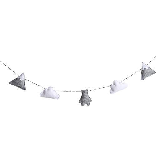 Austinstore Nordic Felt Cloud Garland Bunting Banner Children Bedroom Furniture Decorative Wall Art Baby Gift 4