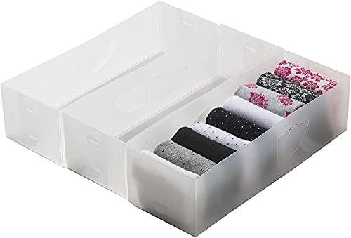 Compactor Optimo Organizzatore per cassetti, Bianco Traslucido, M
