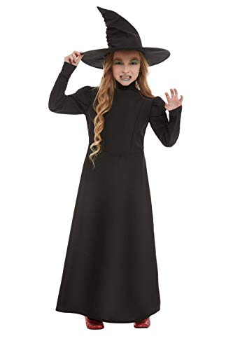 Smiffys 51043M - Disfraz de bruja malvada para nia (talla M, 7-9 aos), color negro