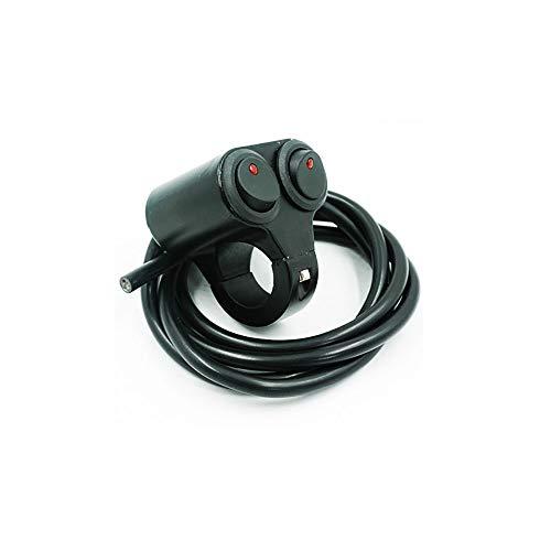 Motorfietsschakelaar ATV 7/8 inch stuur met dubbele knop instelbare koplamp gevarenkoplamp, mistlamp, aan/uit/aan-schakelaar, accessoires voor motorfiets A