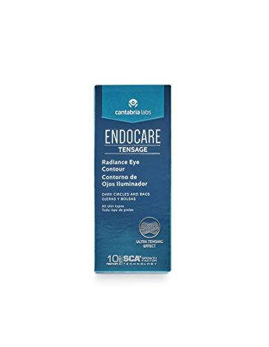 Endocare Tensage Contorno de Ojos Iluminador - Crema Antiarrugas, Antiojeras y Antibolsas, Revitalizante, Iluminadora, Reduce la Pigmentación de la Ojera, 15 ml