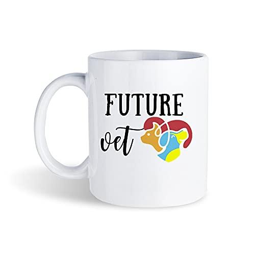 Regalo para estudiantes veterinarios, futuros veterinarios, futuro, regalo veterinario, taza de té para mujeres, hombres, etc