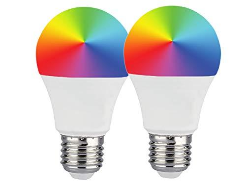LEDLUX SH02752, 2 Pezzi Lampade Led Smart E27 A60 11W 1055lm WiFi RGB CCT Dimmerabile APP Compatible Amazon Alexa Google Home