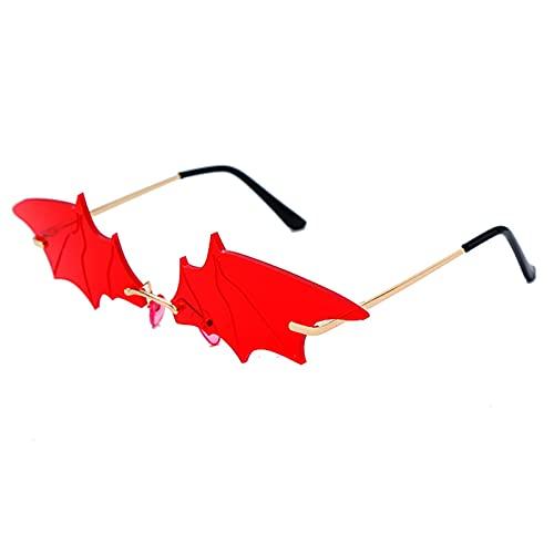 Gafas de Sol de murciélagas de murciélagas de Mujer Mujer Mujer Lujo Espejo MONRIDAD GAPAS DE Sol Unido Gafas de Sol únicas Hombre Masculino UV400 Okulario (Color : 5, Size : K)