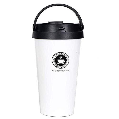 Suler Isolierbecher Travel Mug, Doppelwandige Isolierbecher Leicht und Auslaufsicher Ohne BPA Geeignet für Kaffee oder Bierthermosflasche