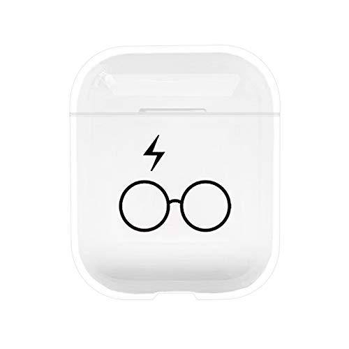 kaliter Funda AirPods,Vaso Difícil Transparente Dudo Funda Protectora de Carga para Apple AirPods 1 y 2