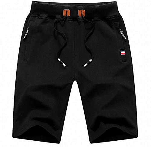 Bakugou Pantalones cortos casuales de los hombres cintura elástica costura moda gran tamaño Streetwear moda